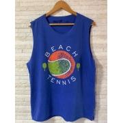 Camiseta Machão  Beach Tennis Bola Frente - Azul