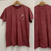 Camiseta T-Shirt MARMORIZADA com bolso RIDER - Water Mellon MARMO