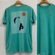 Camiseta T-Shirt  Miragem  Verde Água