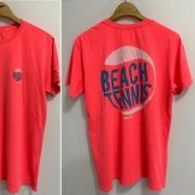 T-SHIRT BEACH BOLA 2 - FLUOR ORANGE