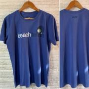 T-Shirt Beach Tennis Peito 2 - Azul Bic Stone