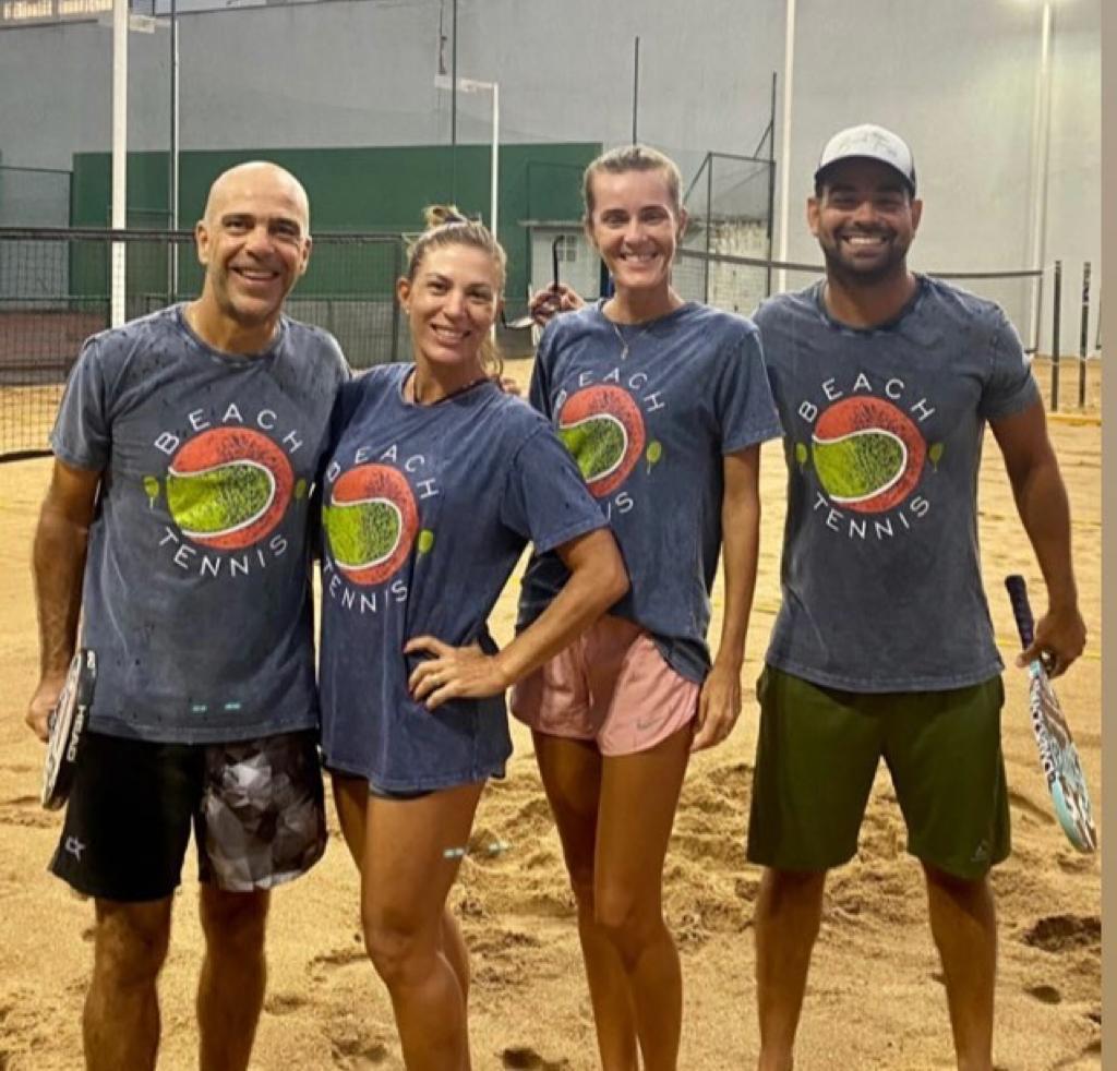 Camisa T-shirt Algodão Beach Tennis Bola - Azul Marmo