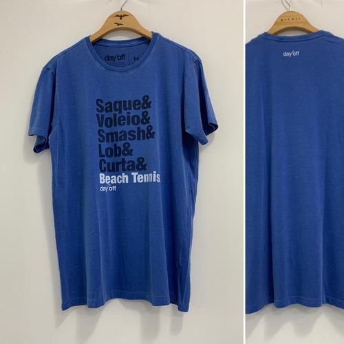 Camiseta T-Shirt Beach Tennis Manobras - Azul