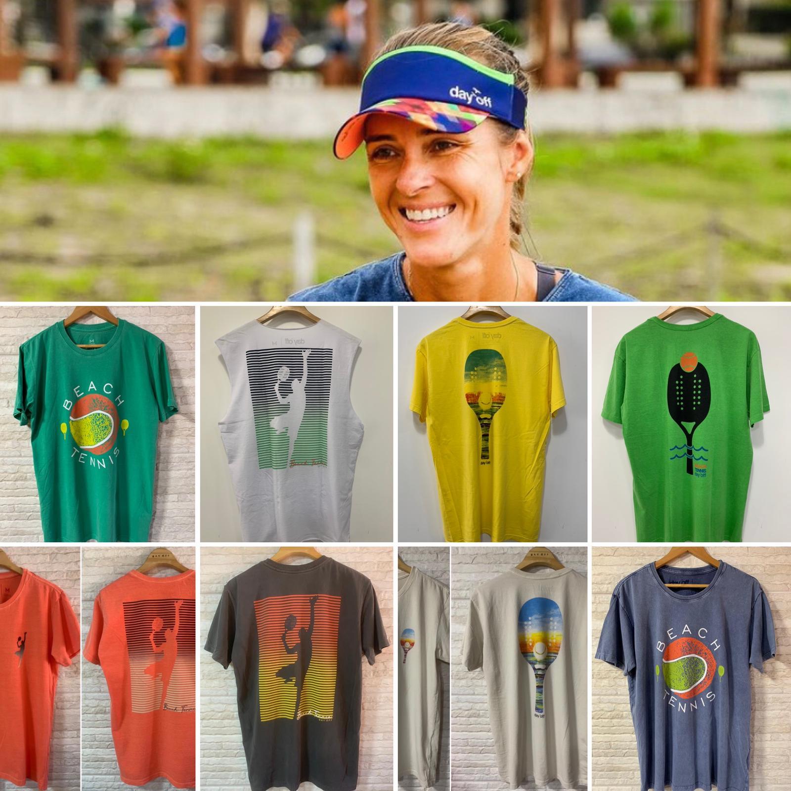 Camiseta T-Shirt  Beach Tennis RAQUETE COSTAS  Verde Água