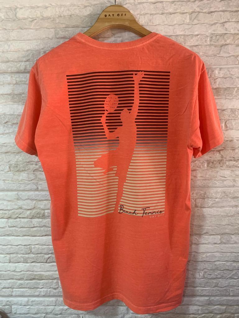Camiseta T-Shirt  Beach Tennis SMASH  Orange