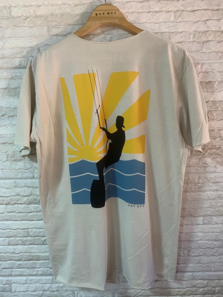 Camiseta T-Shirt  Kitesurf SOL  Off White