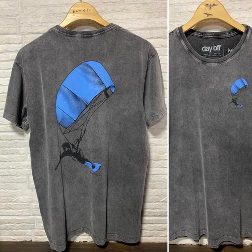 Camiseta T-Shirt Marmorizada RIDER - Preto Chumbo Marmo