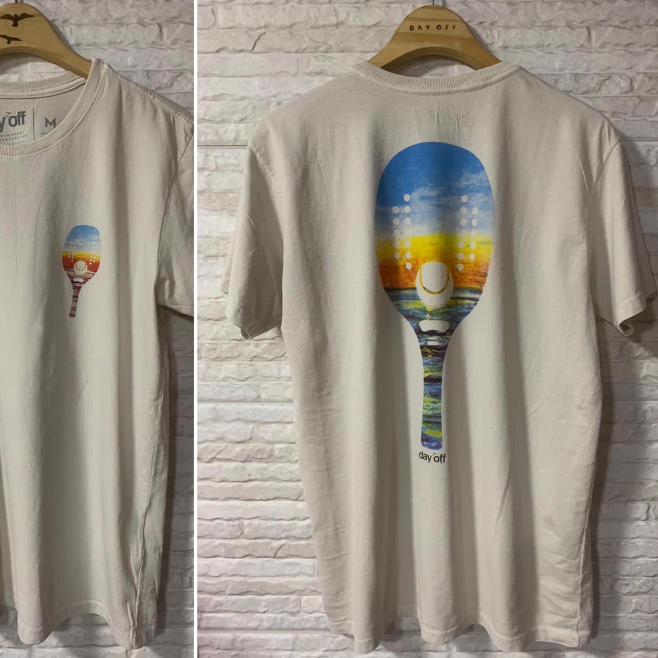 Camiseta T-Shirt Raquete Color - Off White