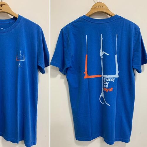 Camiseta T-Shirt Stone Barra - Azul Bic