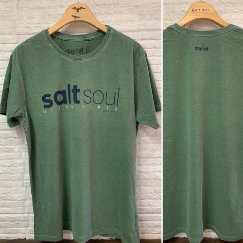 Camiseta T-Shirt Stone Salt Soul - Verde Musgo