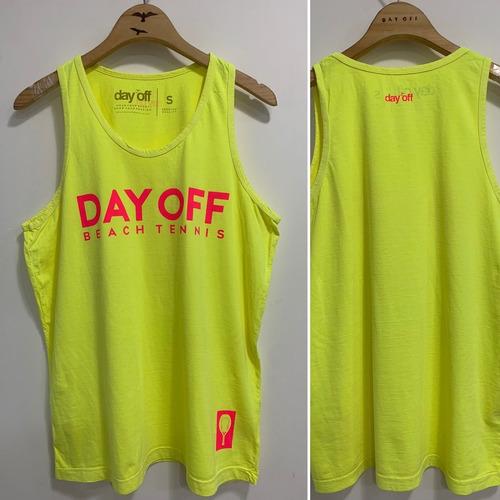 Regata Day Off Beach Tennis - Amarelo Fluor