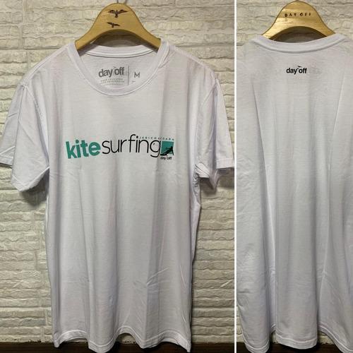 T-Shirt Algodão Kitesurfing Jericoacoara - Branco