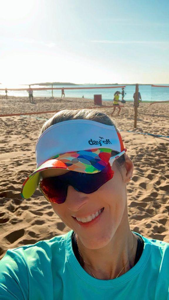 Viseira Beach Tennis color - Círculos