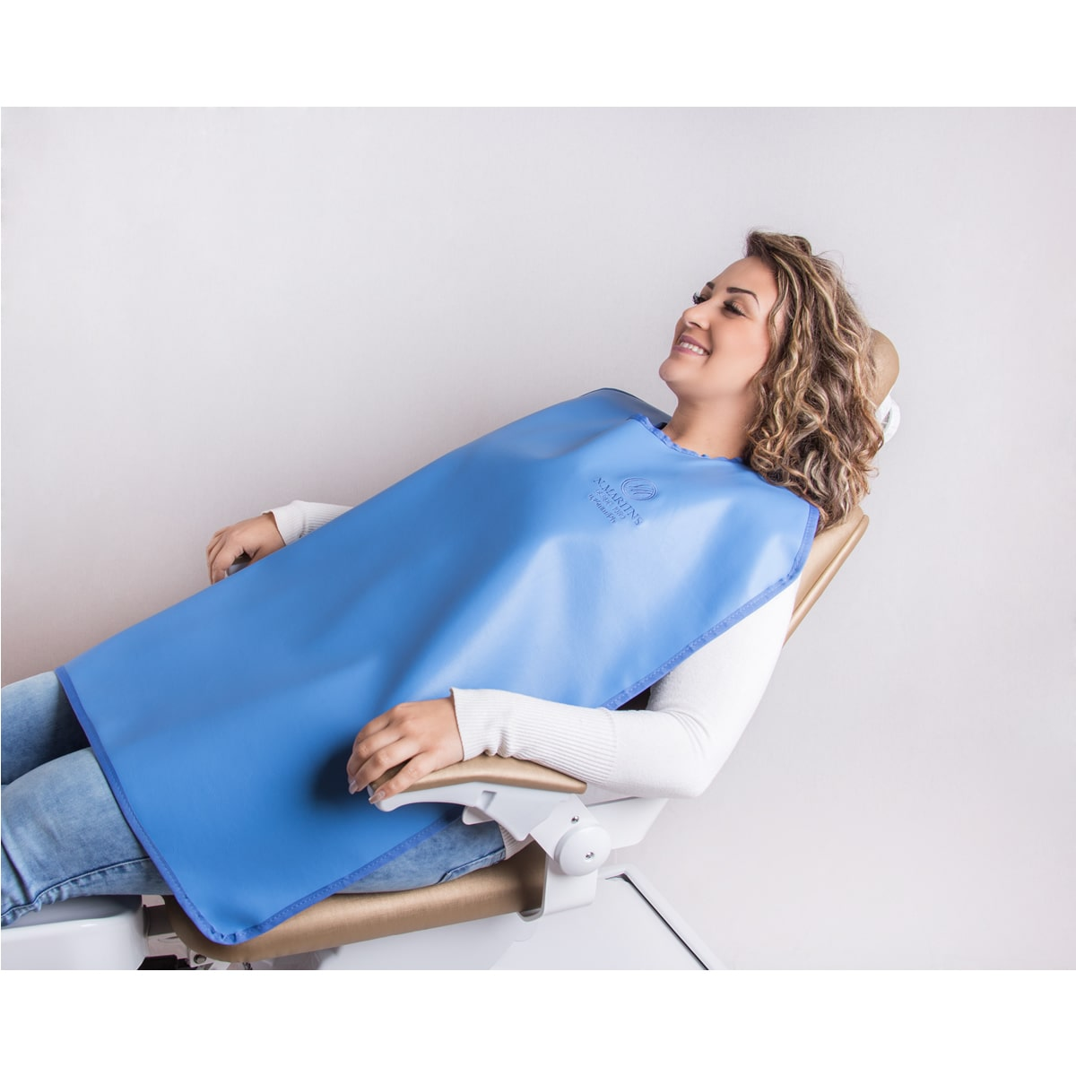 Avental Periapical sem protetor de tireoide - 85x60cm - 0,25mm/Pb - N.Martins