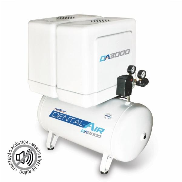 Compressor de ar isento de óleo 3 HP DA3000 50VFP - AirZap