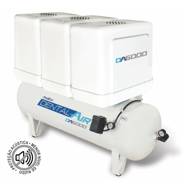 Compressor de ar isento de óleo de 6 HP DA6000 120VFP - AirZap