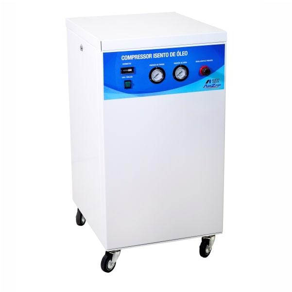 Compressor de ar móvel isento de óleo 1 HP com gabinete acústico DA1000 25VM - AirZap