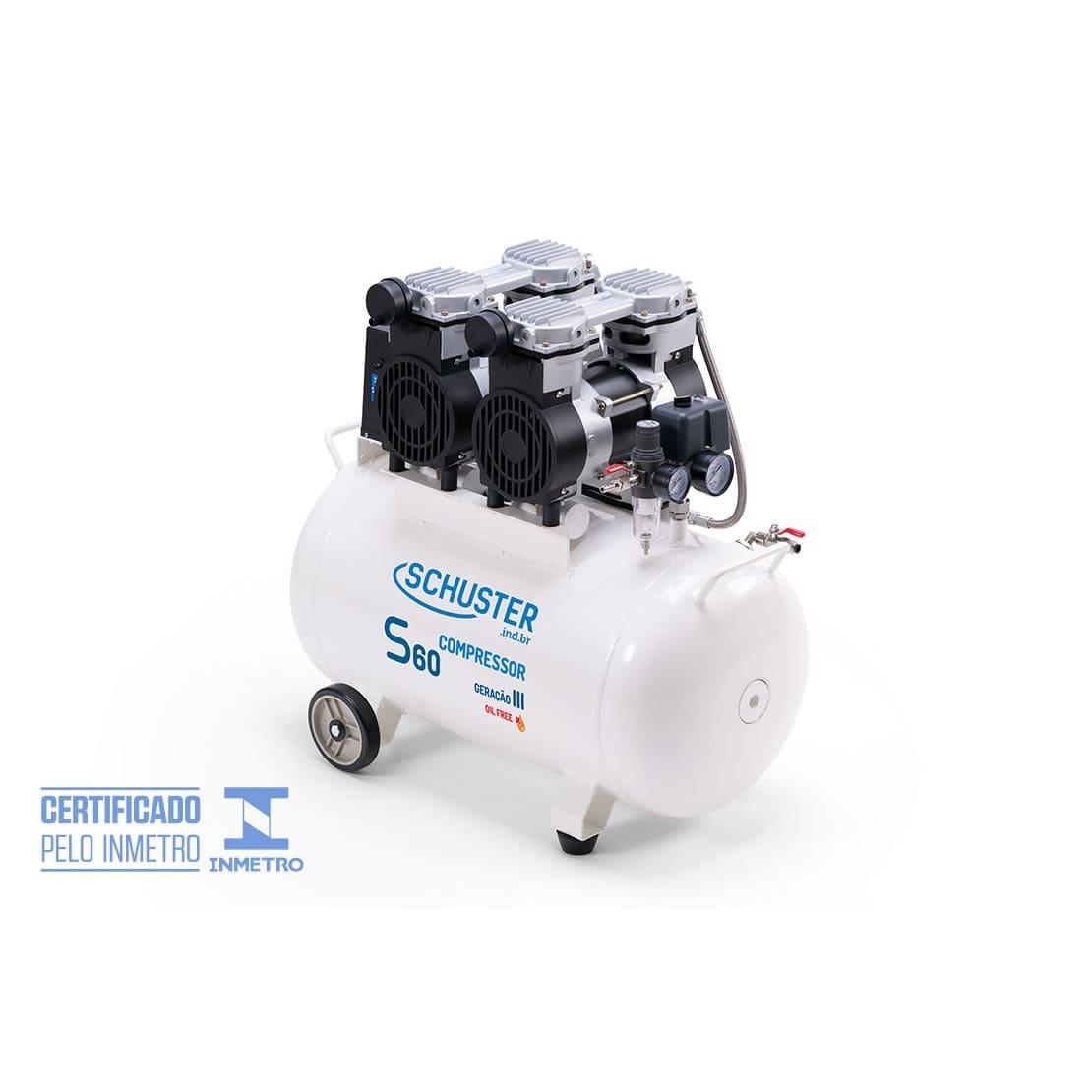 Compressor isento de óleo S60 - Geração III - Schuster