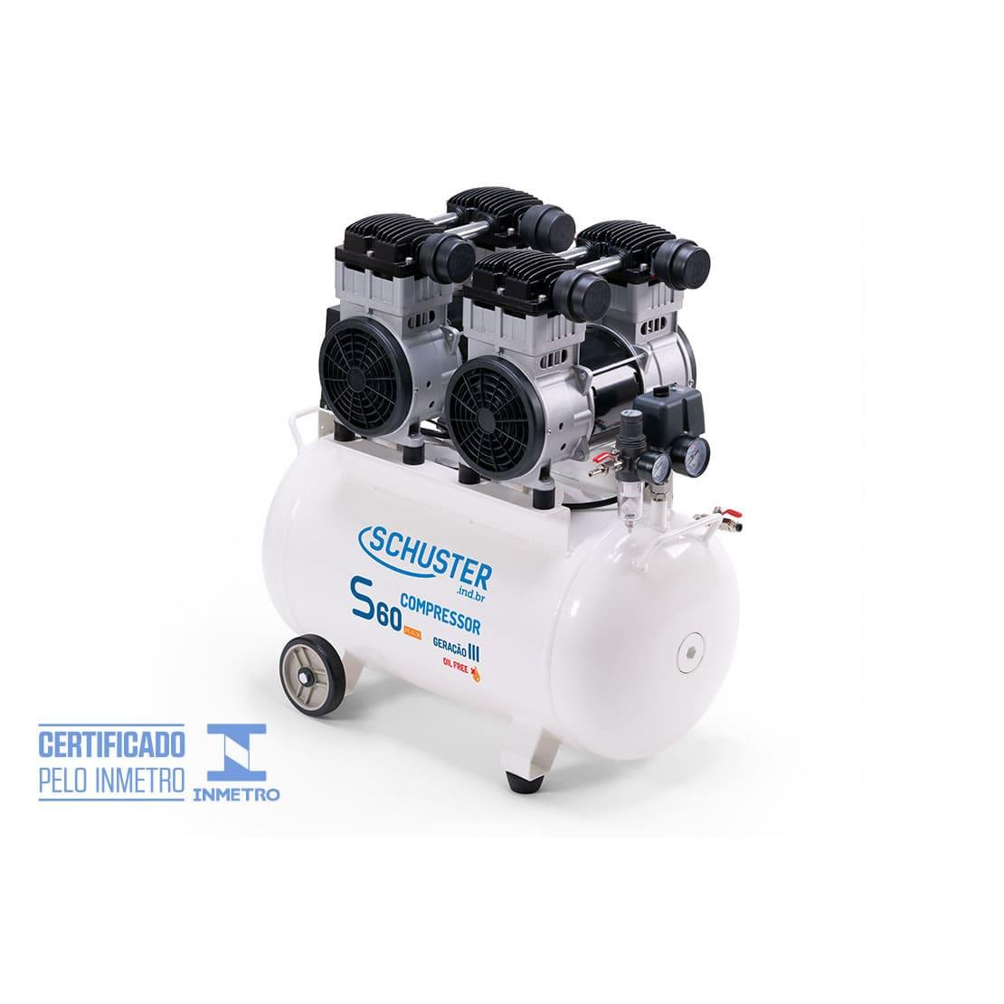 Compressor isento de óleo S60 Max - Geração III - Schuster
