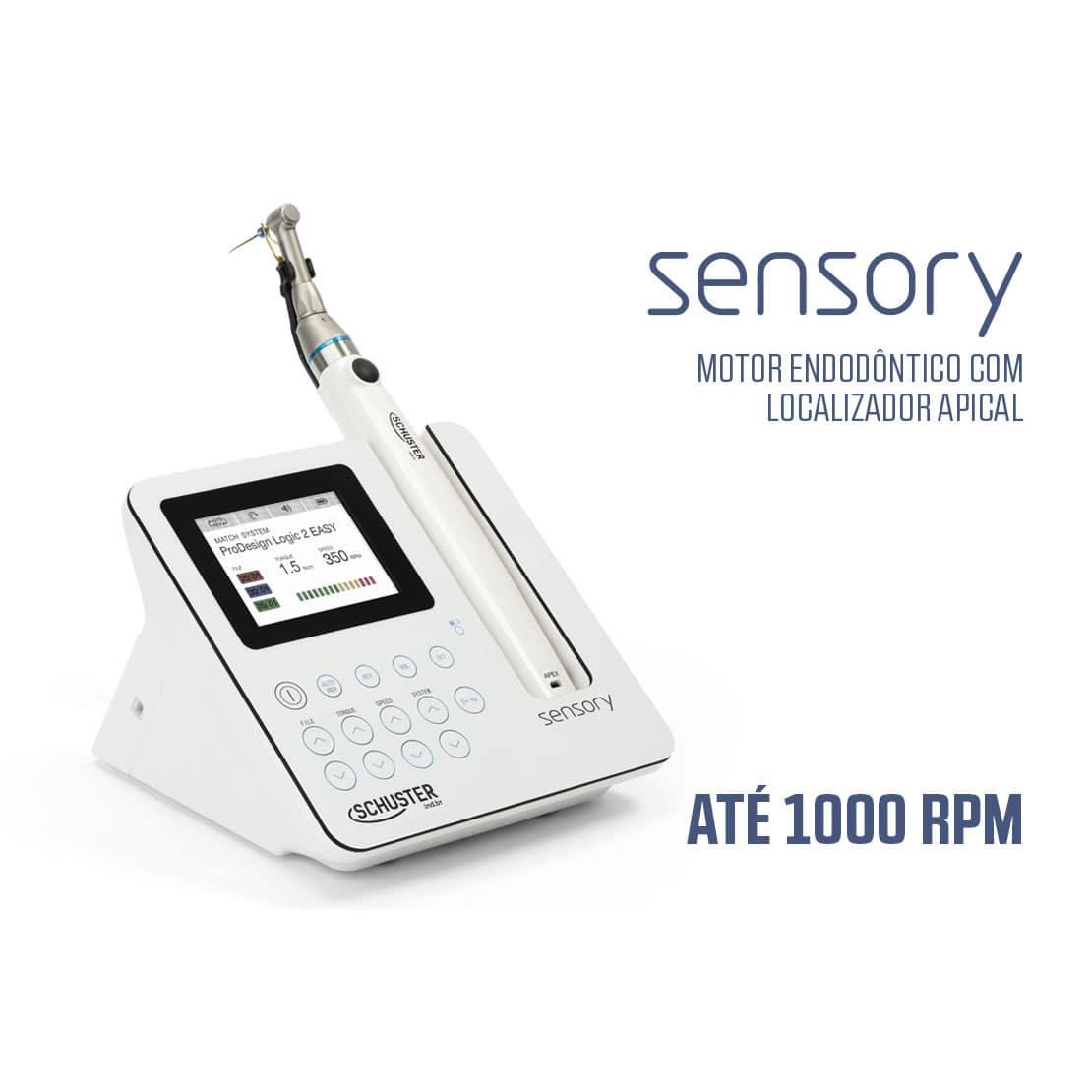 Motor Endodôntico com Localizador Apical Sensory - Schuster