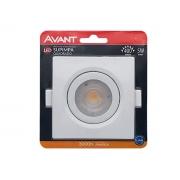 Avant Spot LED quadrado 5W 3000k Bivolt