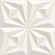 Ceusa Revestimento Drapeado Branco 58X58 REF. 66071 (2PÇS/CX)