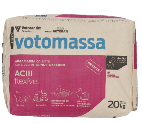 Argamassa Votomassa Flexivel AC III Branca 20 KG