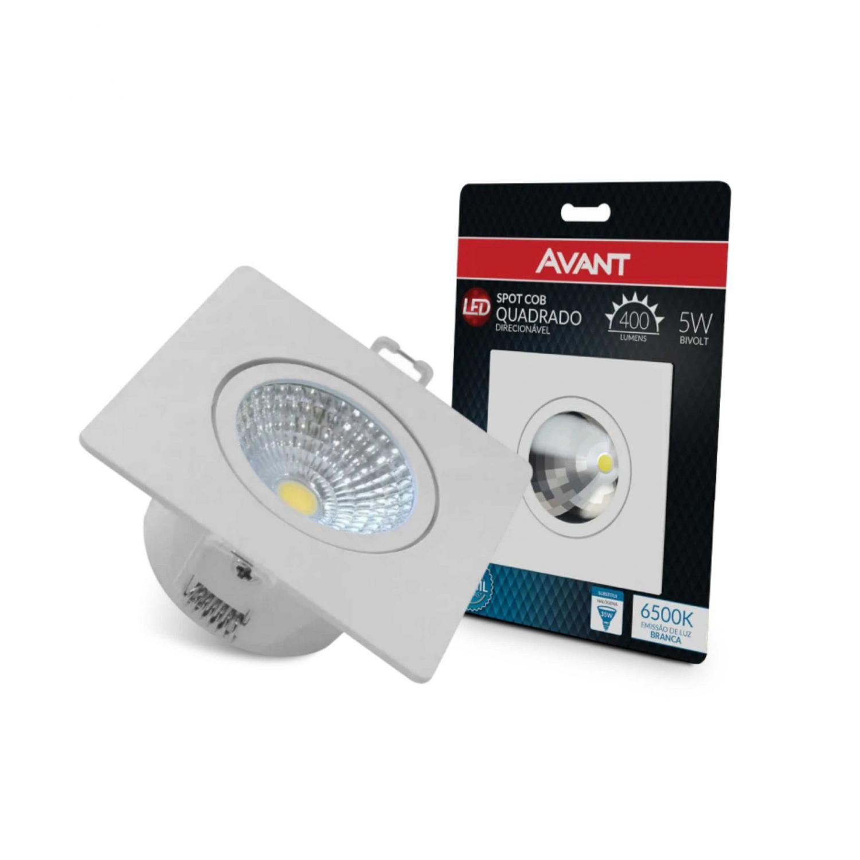 Avant Spot LED quadrado 5W 6500k Bivolt