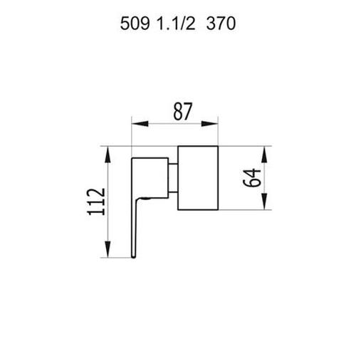 Fani Acabamento Registro 509 C370 1.1/2 Bold CR