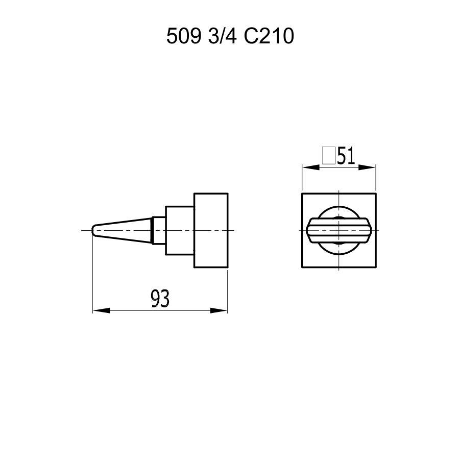 Fani Acabamento Registro 509 RV210 3/4 Cobre