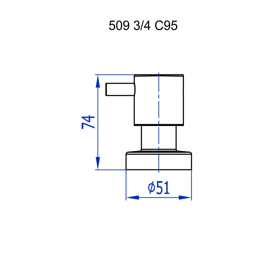 Fani Acabamento Resgistro 509 C95 C3/4