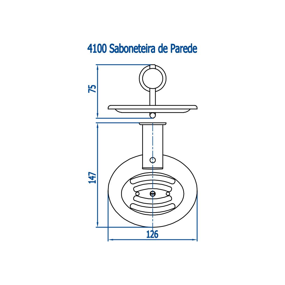 Fani Saboneteira Parede 4100 C48 Ipanema