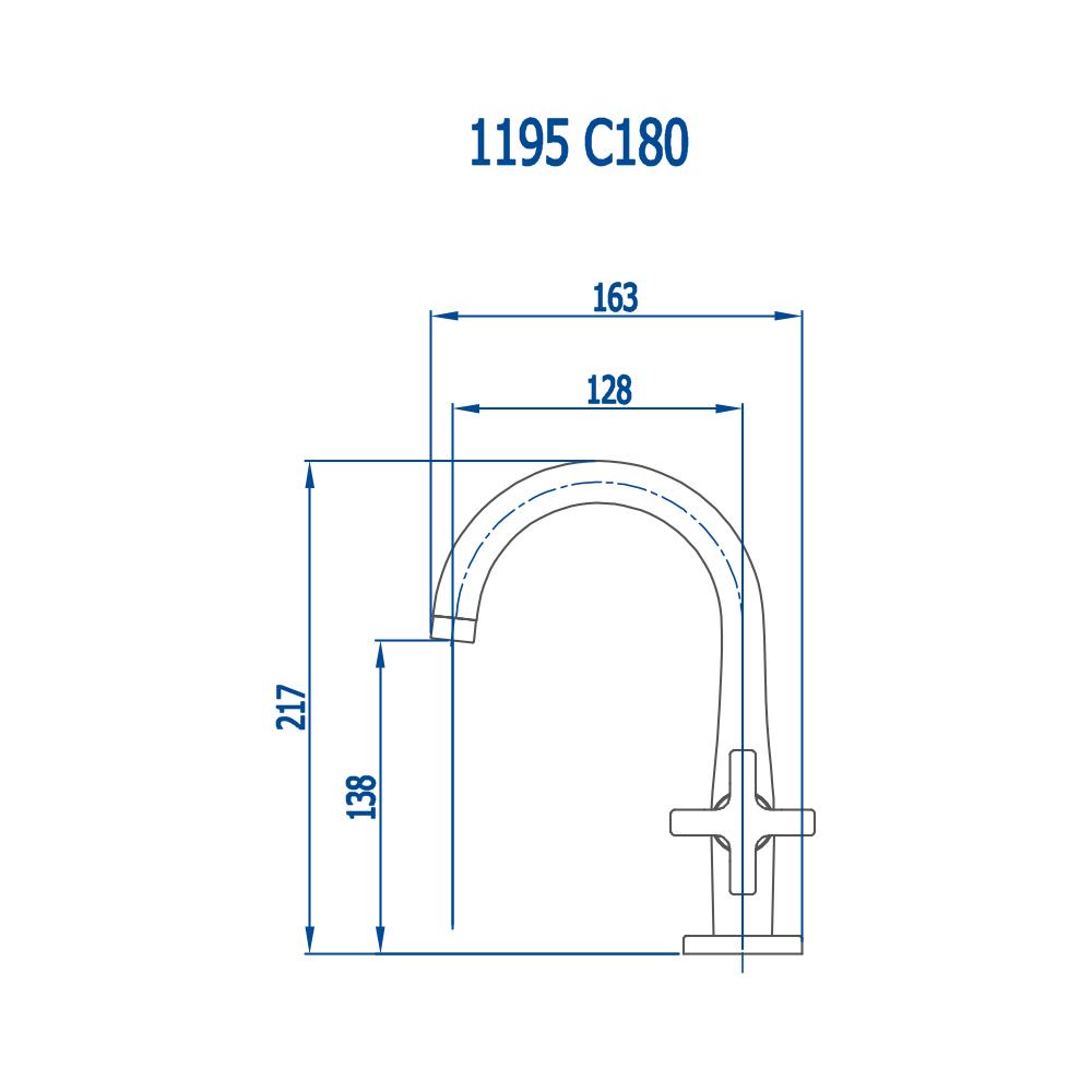 Fani Torneira Lavatório 1195 C180 Jade