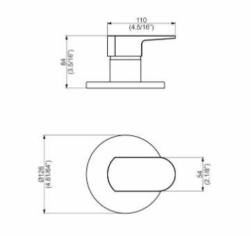 Perflex Acab. Monoc. Chuveiro C92 Base Deca - Focus
