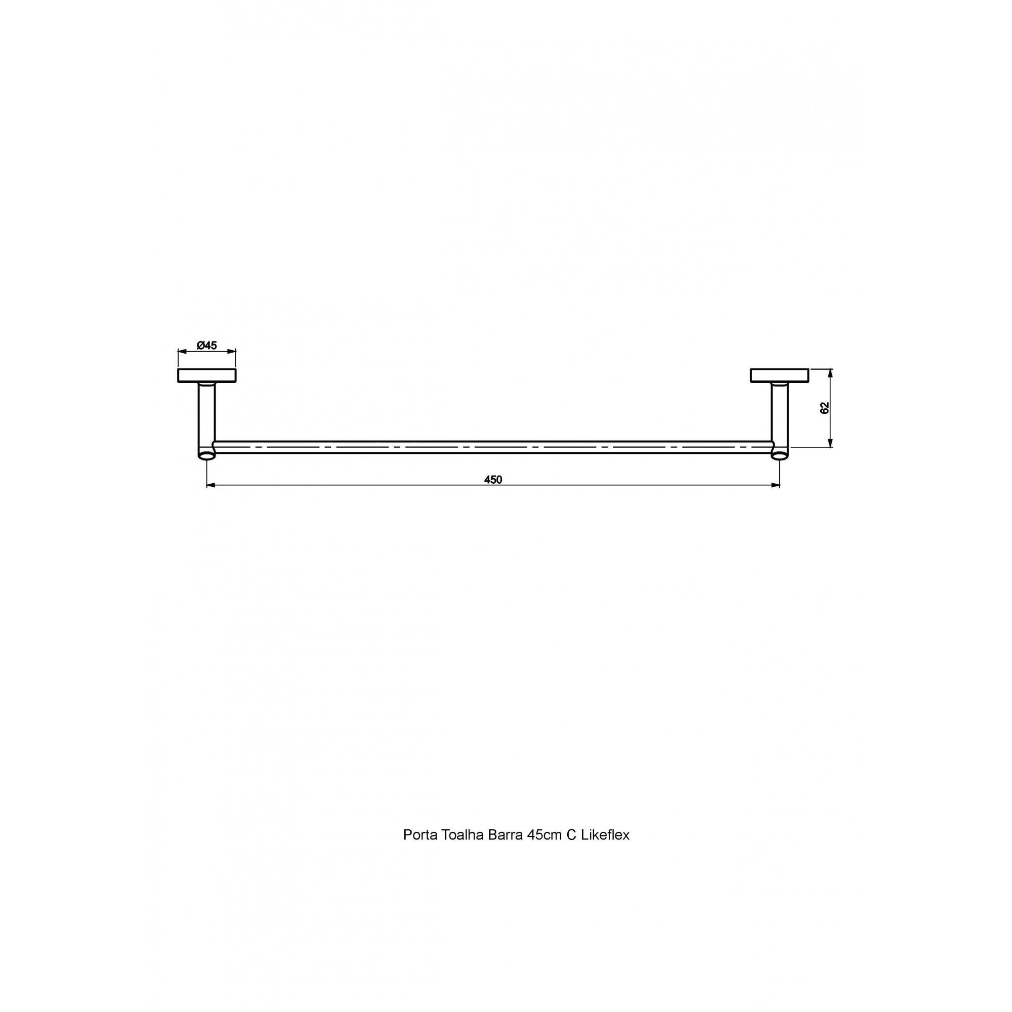 Perflex Porta Toalha Banho 45cm C29 Like Flex