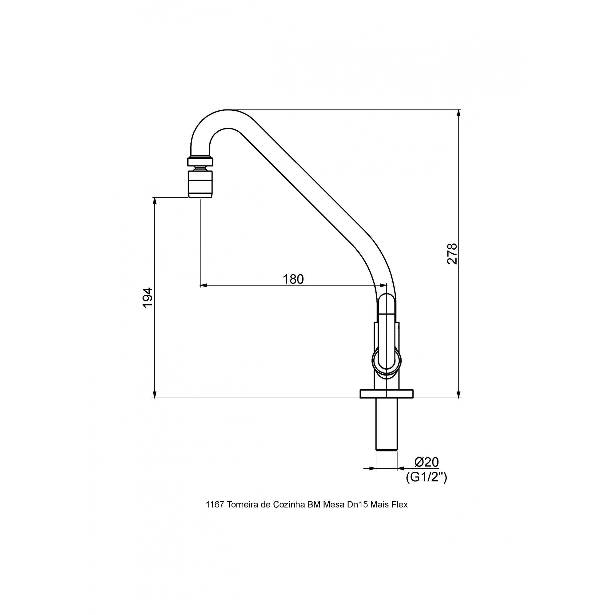 Perflex Torneira Lav. 1196 C45 Mais Flex