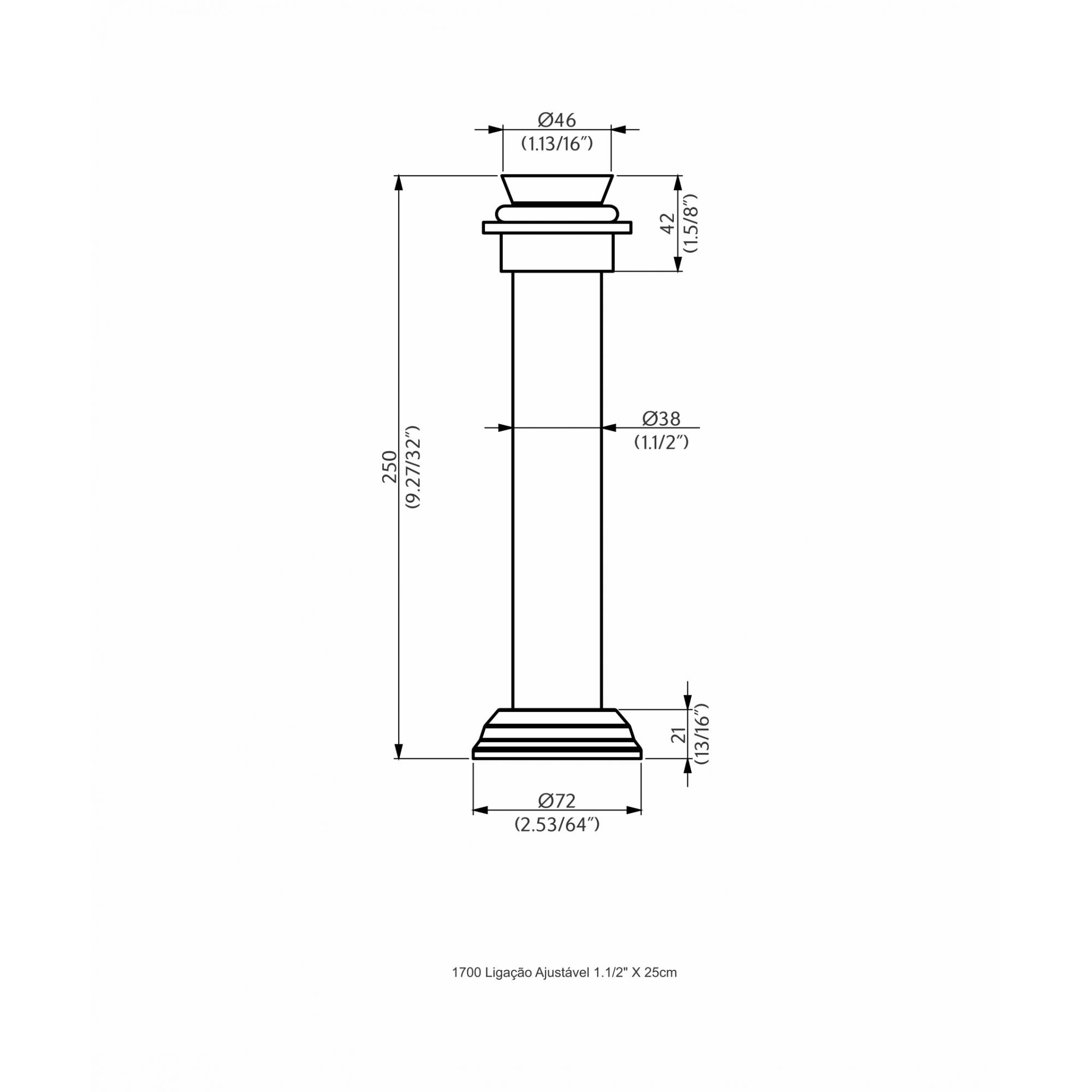 Perflex Tubo Ligação Ajust. 1.1/2X25CM