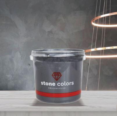 Stone Colors Cimento Queimado Perolizado Minério de Onix 3,2KG