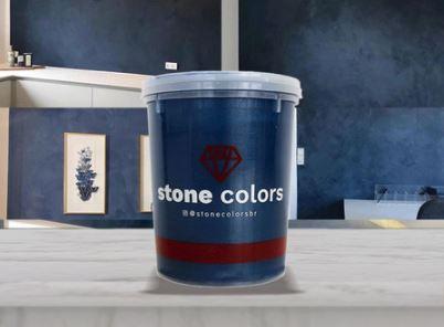 Stone Colors Cimento Queimado Perolizado Safira Escuro 1,6KG