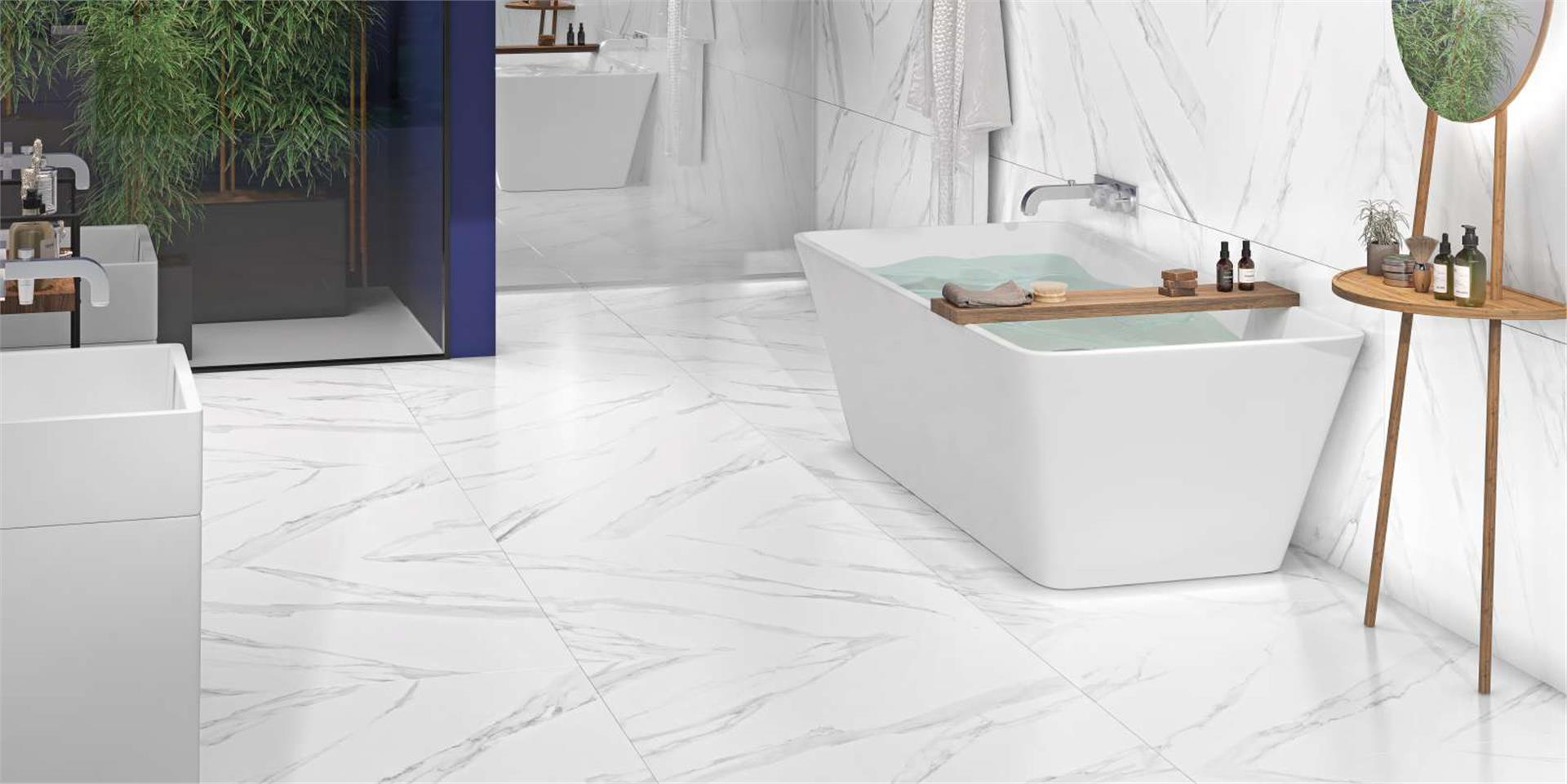 Villagres Porcelanato 90,5X90,5 Bianco Carrara Polido Ref 910021 (CX 1,64M2)