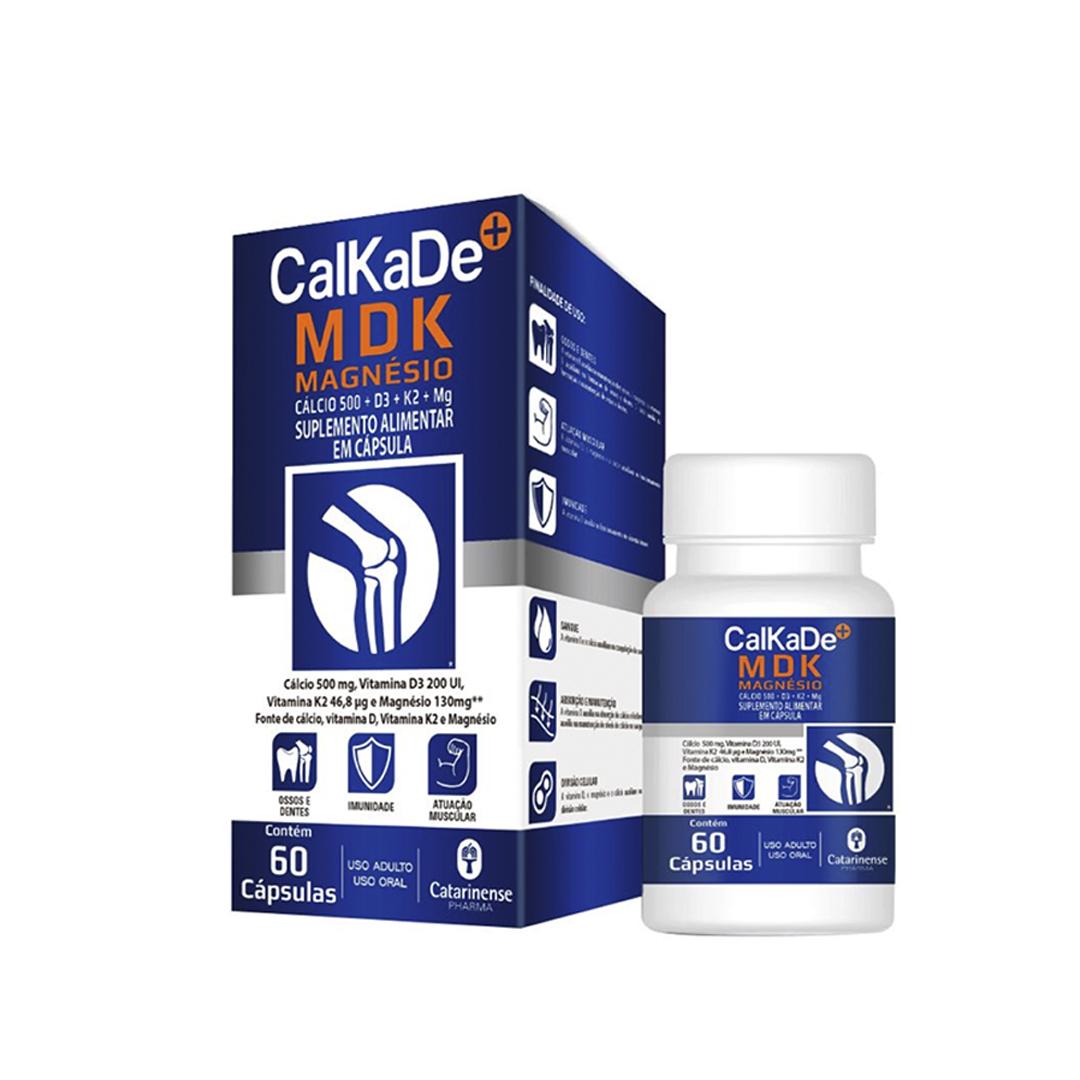CalKaDe MDK Magnésio 60 Cápsulas Catarinense Pharma