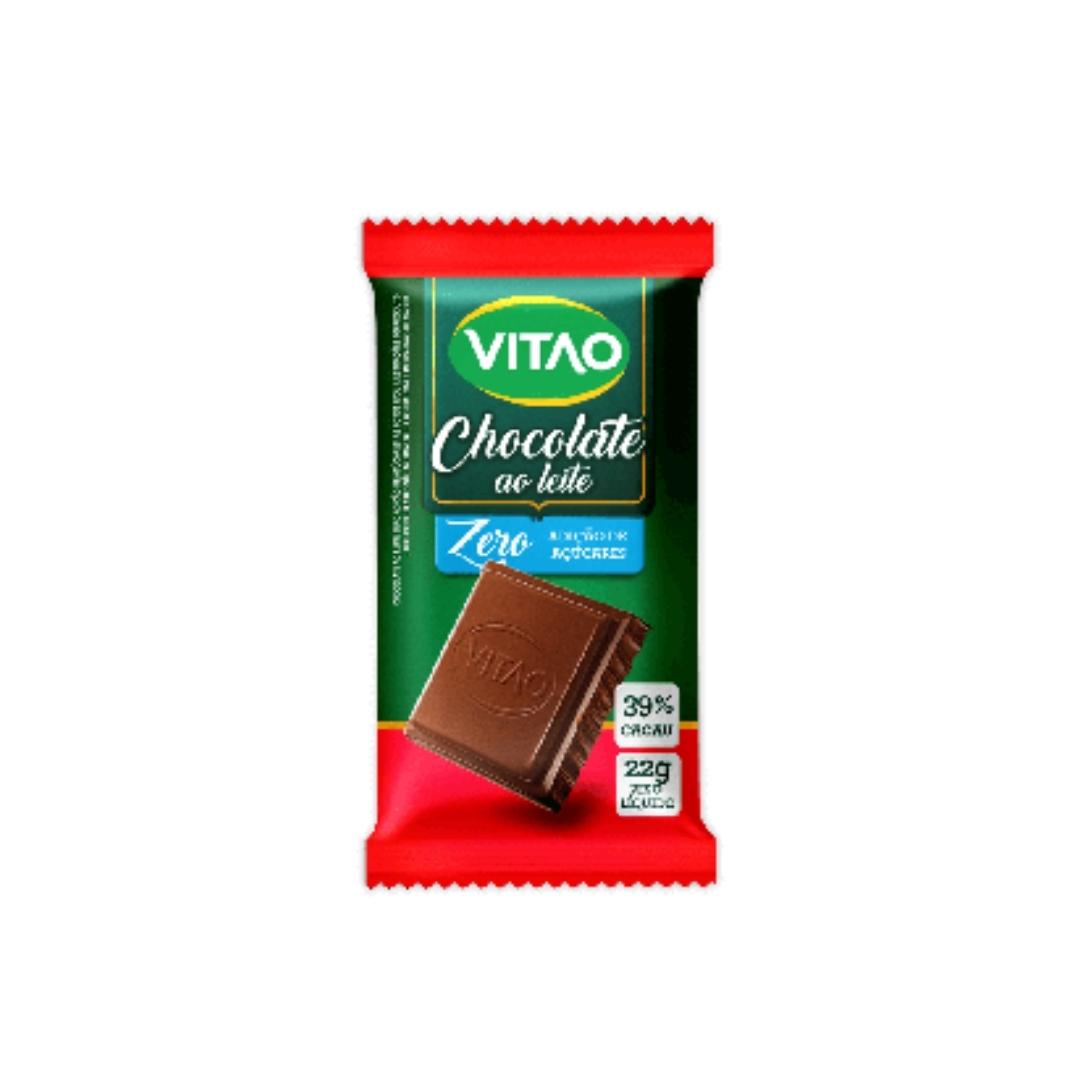 Chocolate Ao Leite Zero Açucar 22g Vitao