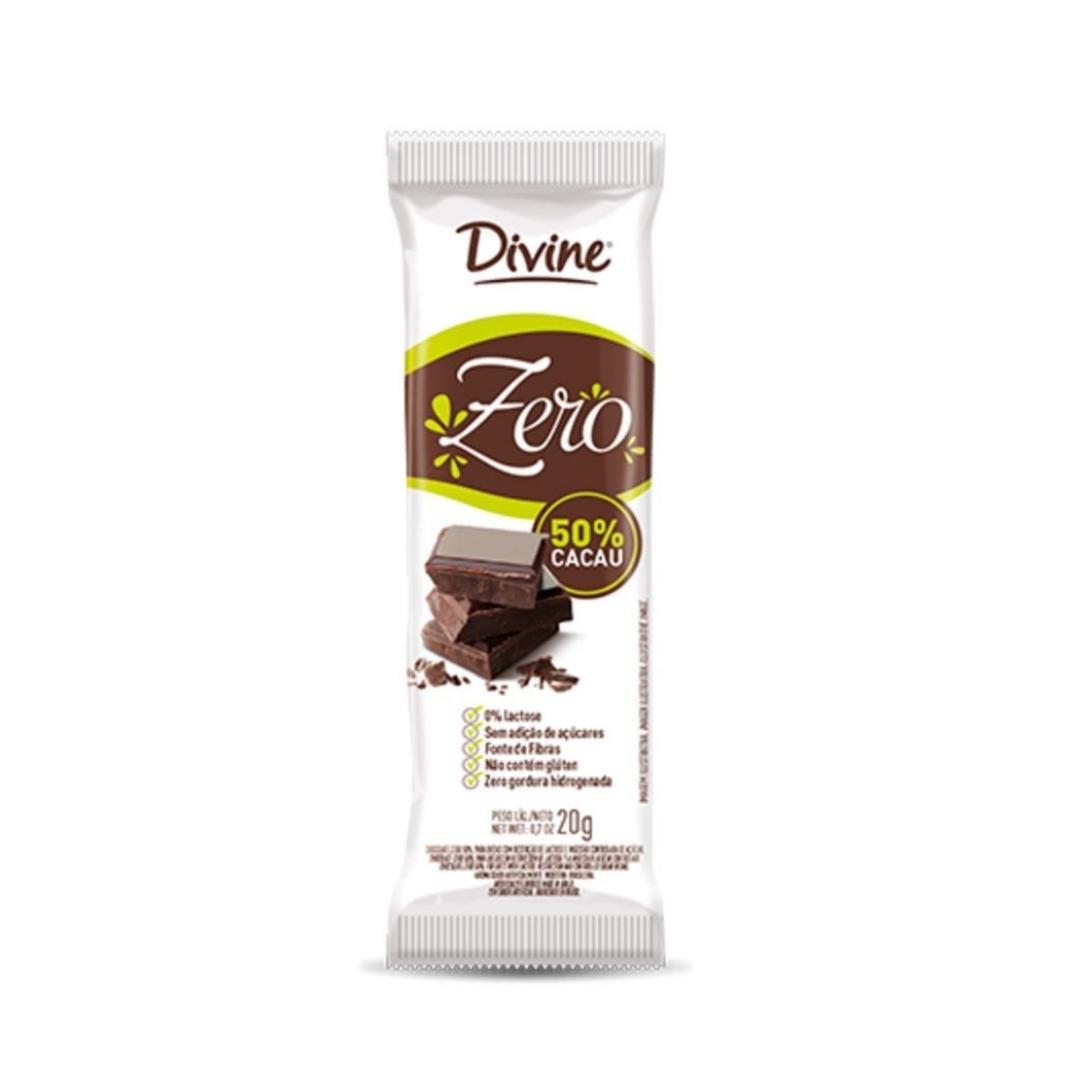 Chocolate Meio Amargo 50%Cacau 20g Divine