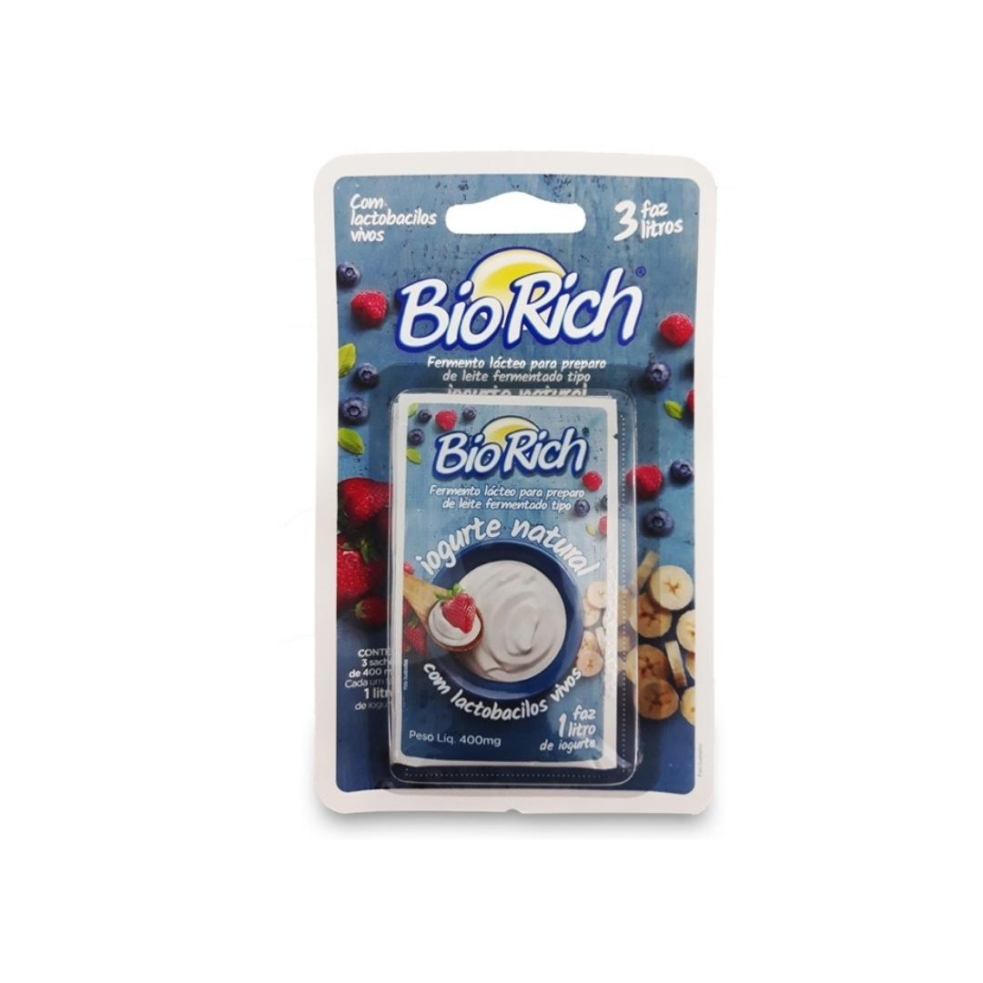 Iogurte Natural 3 Sachês 400mg Bio Rich