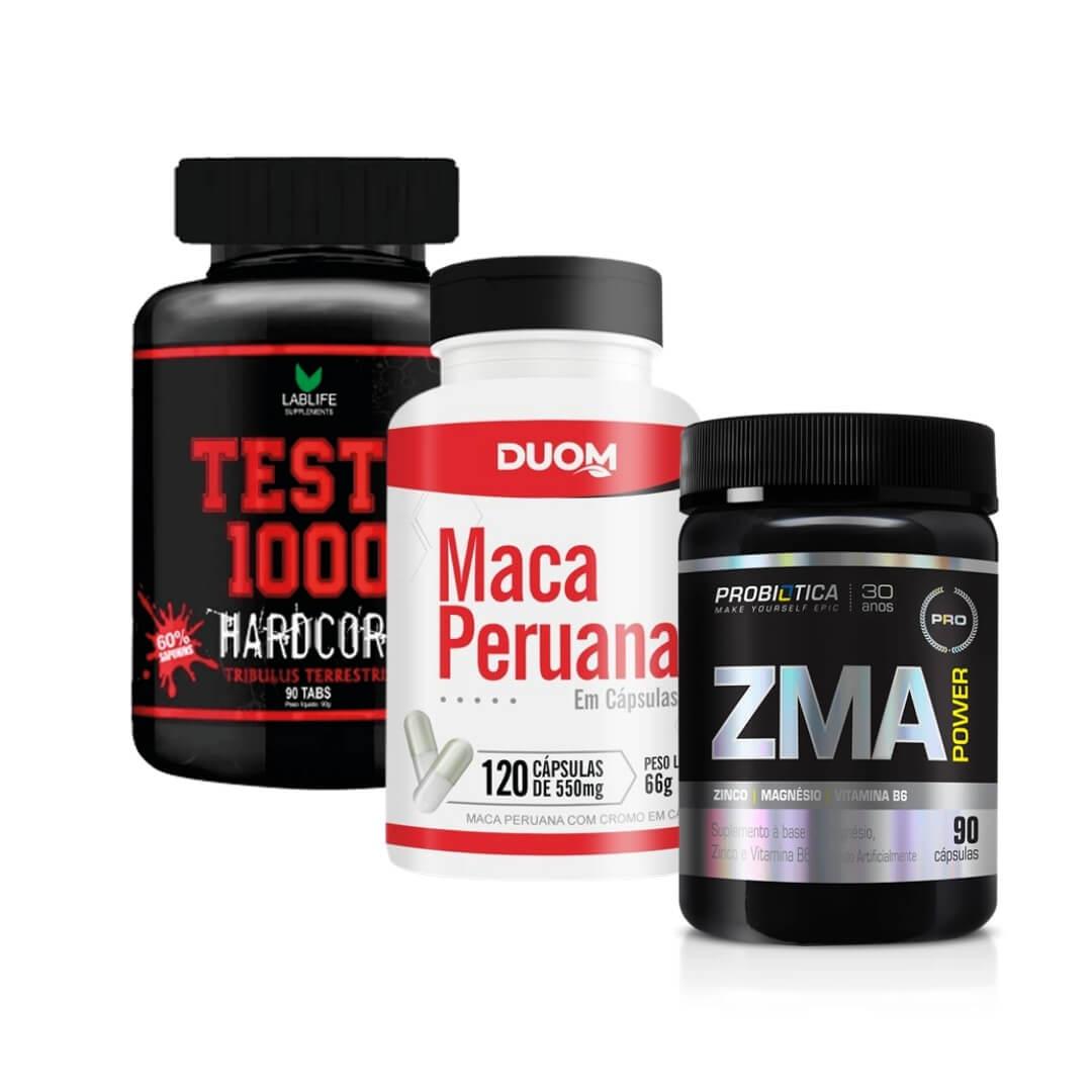 Combo Desempenho - Testo 1000 + ZMA + Maca Peruana