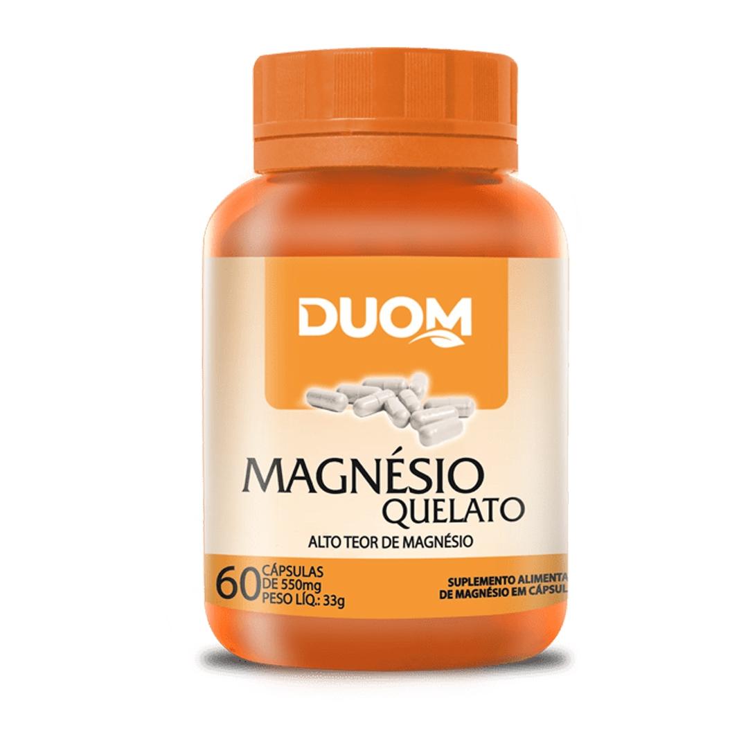 Magnésio Quelato 60 Caps Duom