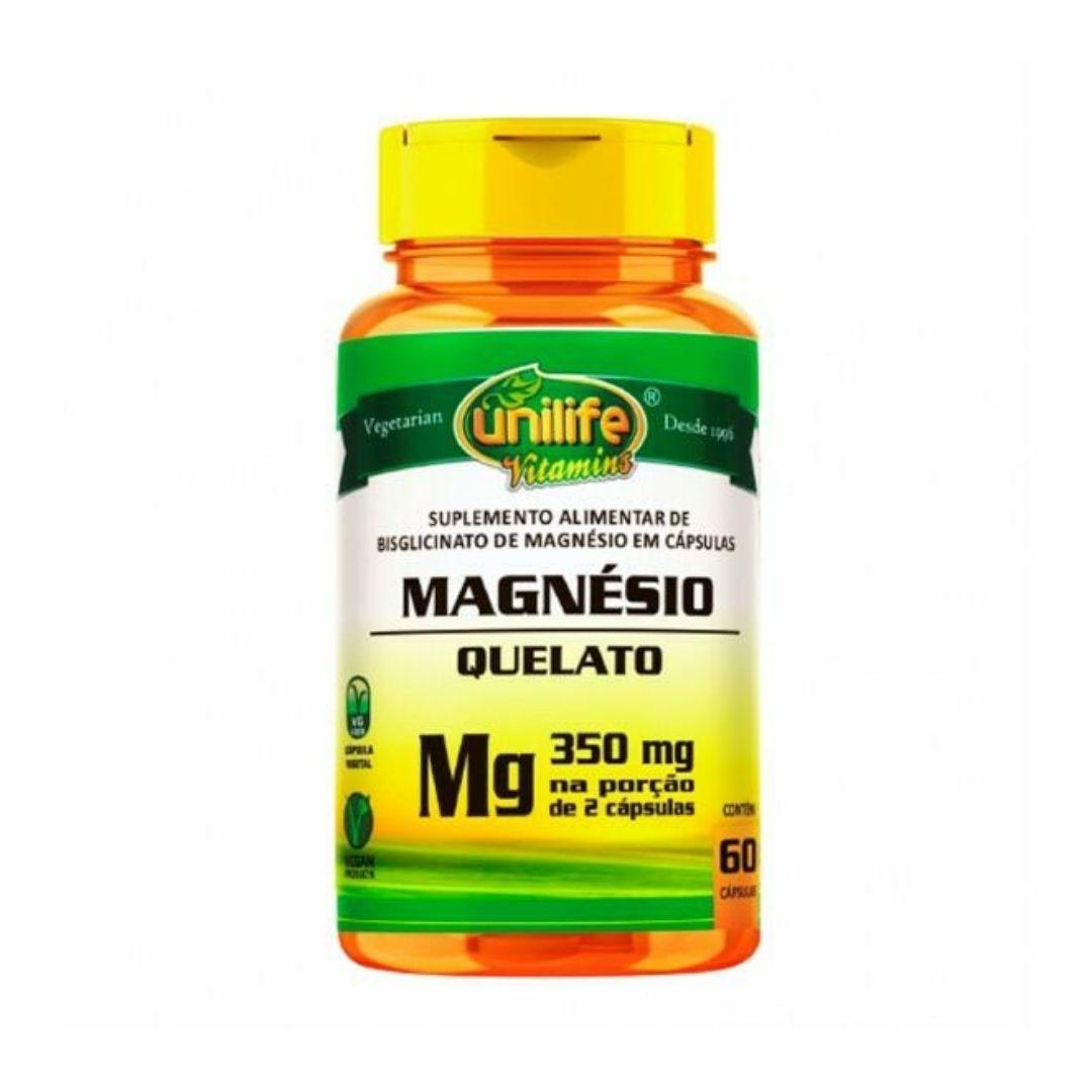 Magnésio Quelato 60 CapsUnilife