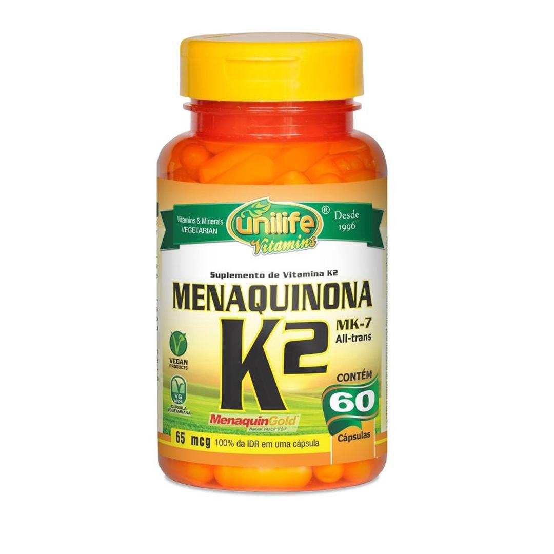 Vitamina K2 Menaquinona 60 Cápsulas Unilife