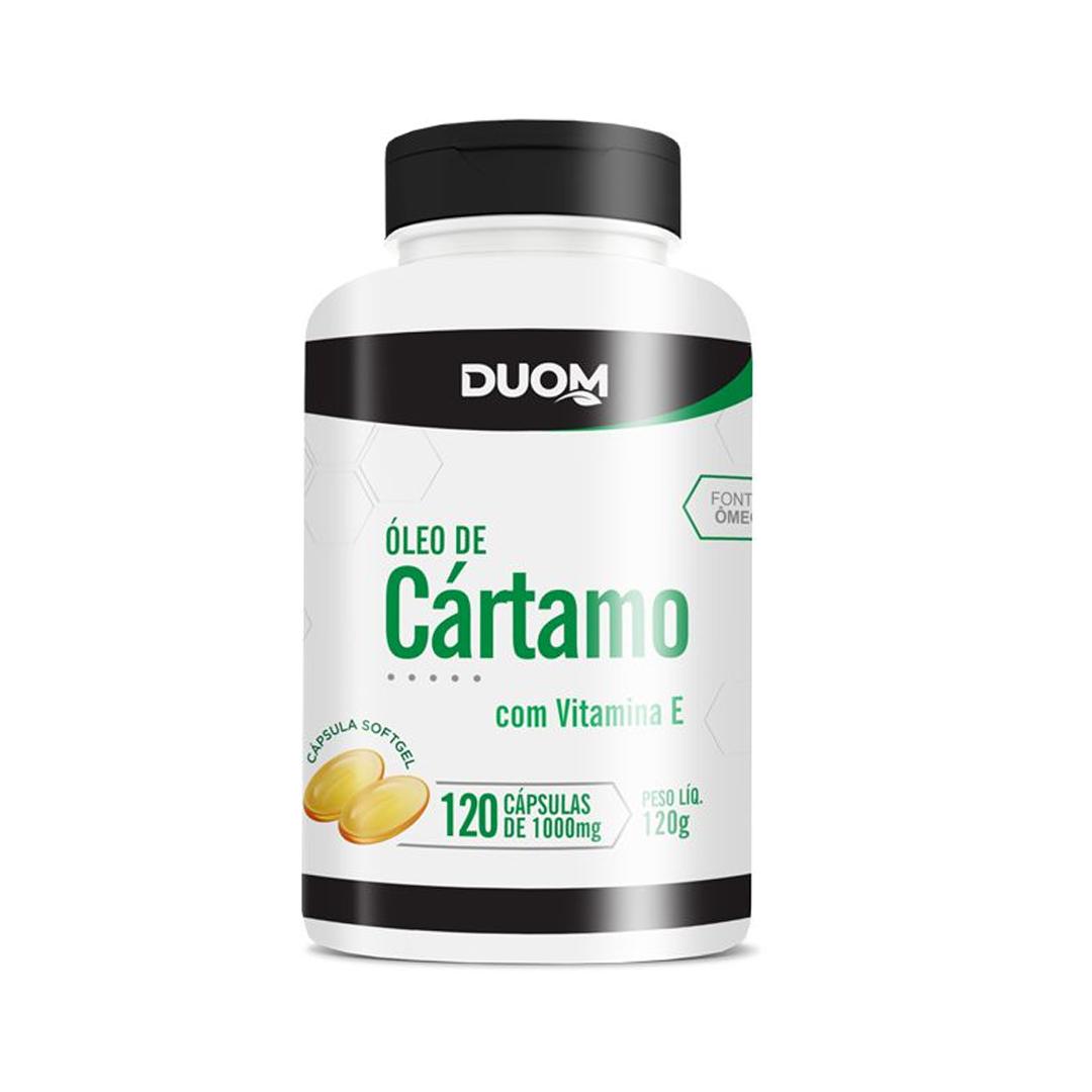 Óleo de Cártamo com Vitamina E 120 Cápsulas Duom