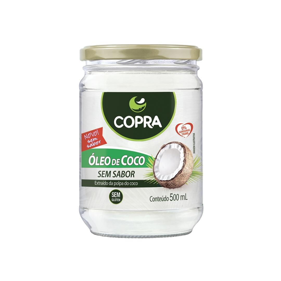 Óleo de Coco Sem Sabor/Cheiro 500ml Copra